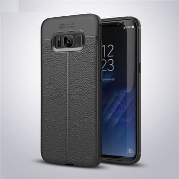 Thin Premium Leather Back Case for Galaxy S8