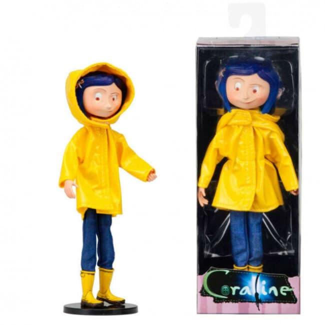 Neca Coraline Raincoat Action Figure Phone Case Wiz