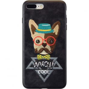 iPhone X Leather Fabric French Bulldog Case