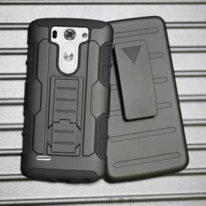 LG G3 Beat Mini Tough Shockproof Defender Case with Belt Clip