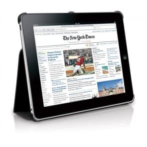 Macally Bookstands Sand Suede Protective Case & Stand for iPad