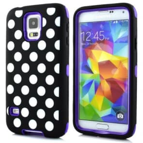 Tough Shockproof Polka Dot Designer Case for Galaxy S5