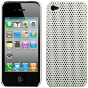 iPhone 4 Perforated White Soft Touch Snap Case Generic InCase Griffin Flexgrip