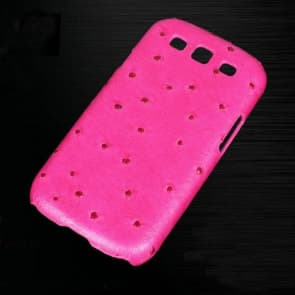 Vivi Design Handmade Pink Ostrich Leather Case for Samsung Galaxy S3