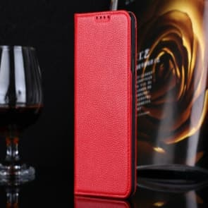 Real Premium Leather Wallet Folio Galaxy S5 Case and Stand Red