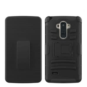 LG G4 Stylus G Stylo Tough Shockproof Defender Case with Belt Clip LS770