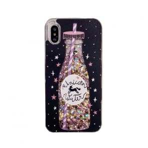 iPhone X Moving Sparking Water Drink Case