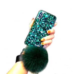 iPhone X Diamond Gemstone With Fur Case