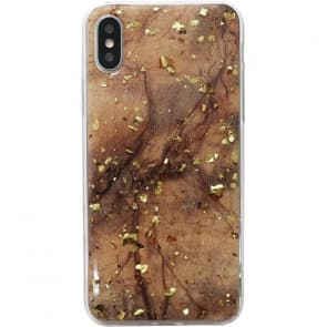 Gold Flake Design iPhone X Case