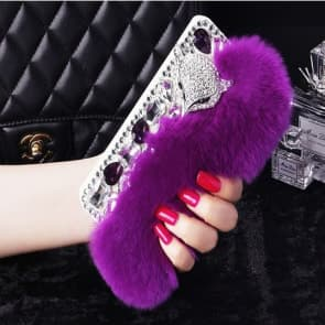 Fur Bling Rhinestone Case for iPhone 6 6s Plus