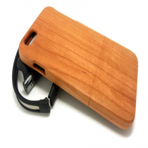 Hand Crafted Walnut Wood Slider Case for iPhone 6 Plus