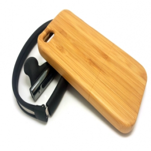Hand Crafted Bamboo Wood Slider Case for iPhone 6 Plus