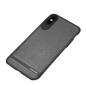 Grain Leather iPhone X Super Thin Case
