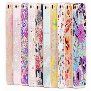Ultra Thin Cute & Elegant Wonderland Flower Pattern iPhone 6 Plus 5.5 Jelly TPU Case